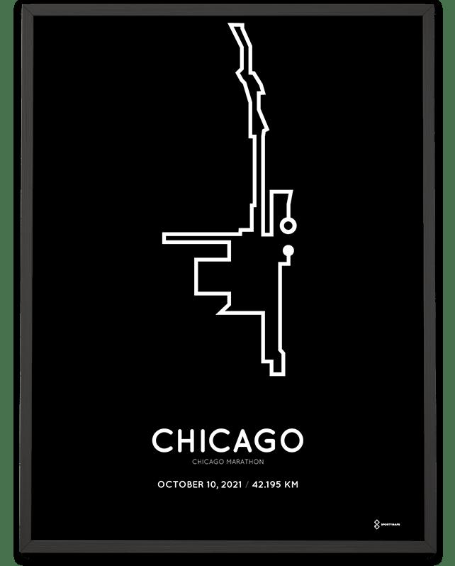 2021 Chicago marathonermap