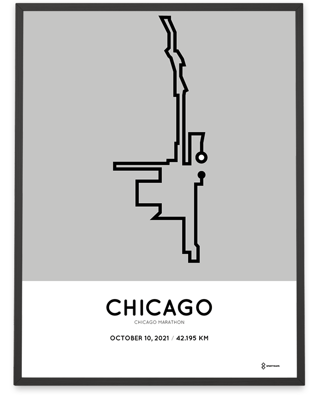 2021 Chicago marathon sportmap racetrace
