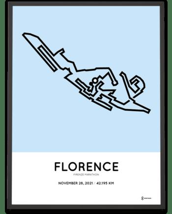 2021 Florence marathon course poster