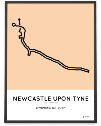 2021 Great North Run course poster