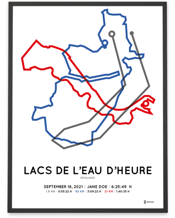 2021 Ironlakes Middle Distance parcours poster