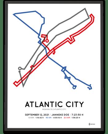 2021 Ironman 70.3 Atlantic City course poster