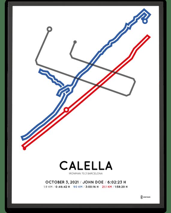 2021 Ironman 70.3 Barcelona course poster