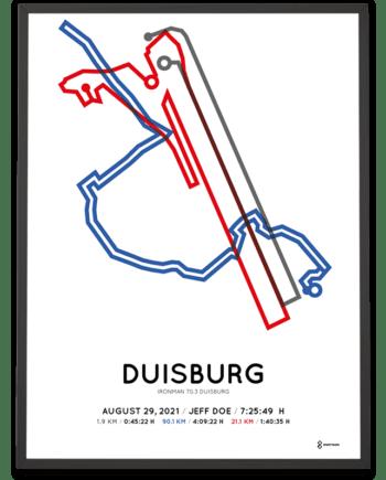 2021 Ironman 70.3 Duisburg course poster