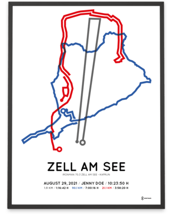 2021 Ironman 70.3 Zell-am-See Kaprun course poster
