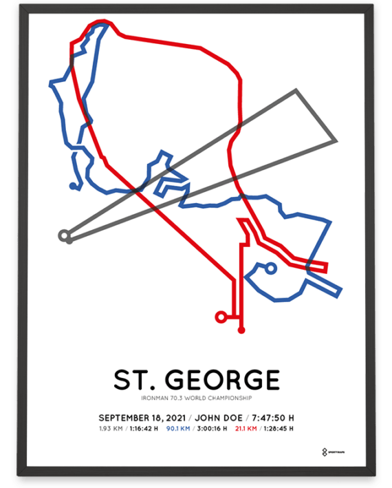 2021 Ironman 70.3 World Chamiponship St. George course poster