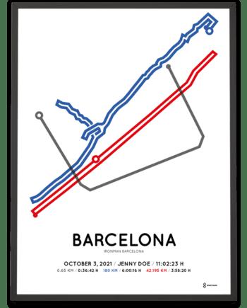 2021 Ironman Barcelona course Sportymaps poster