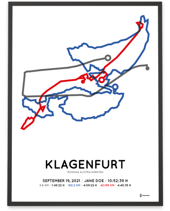 2021 Ironman Klagenfurt sportymaps course poster