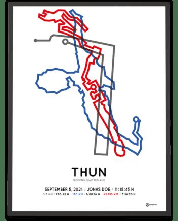 2021 Ironman Switzerland strecke poster