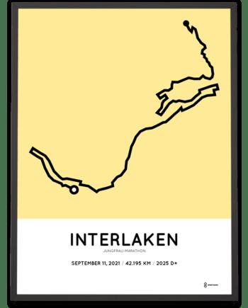 2021 Jungfrau marathon course poster