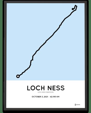 2021 Loch Ness Marathon course poster