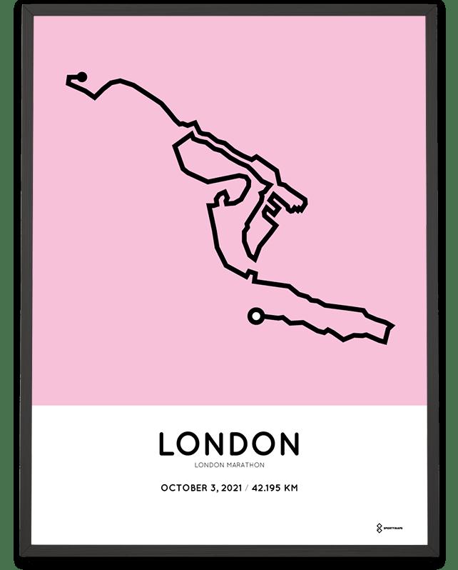 2021 London Marathon route poster