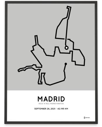 2021 Rock n Roll Madrid Maraton course poster