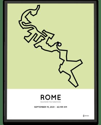 2021 Run Rome the Marathon course poster
