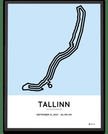 2021 Tallinna maraton course poster