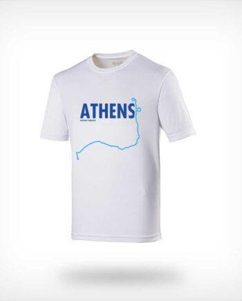 Athens Marathon running shirt men white
