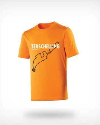 Berenloop Sportymaps running shirt man orange