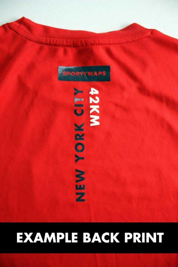 Example back print Sportymaps rnning shirt