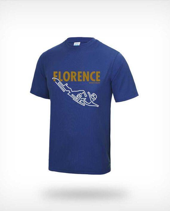 Florence Marathon running shirt men blue