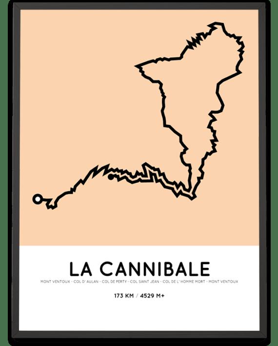 La Cannibale Sportymaps parcours poster