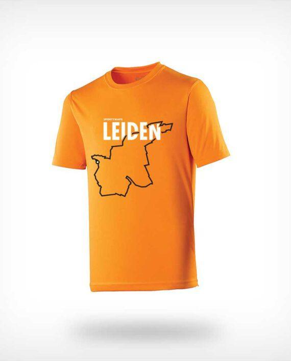 Leidenn marathon course running-shirt orange