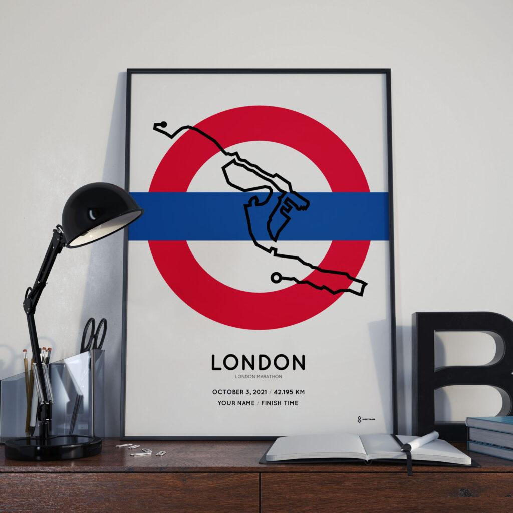 2021 London Marathon Special Edition course poster
