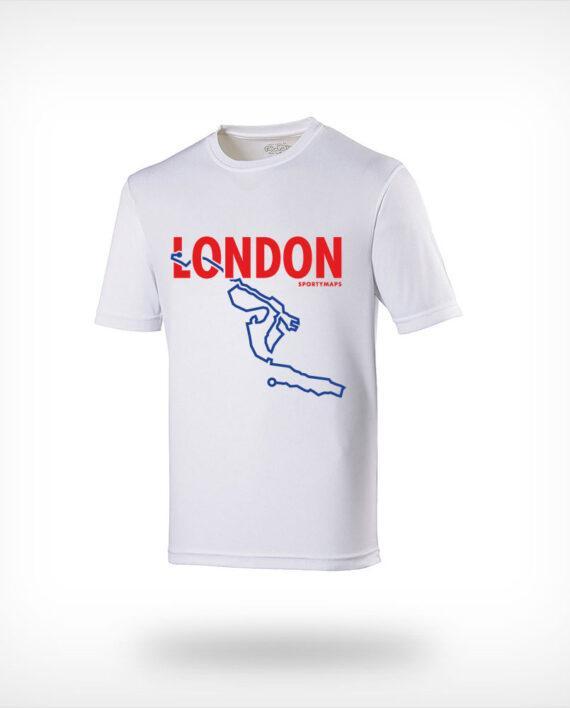 London marathon running shirt man white