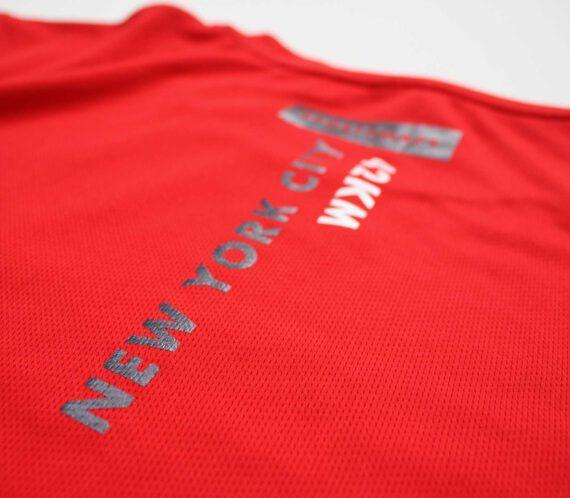 New York City Marathon Sportymaps running shirt back