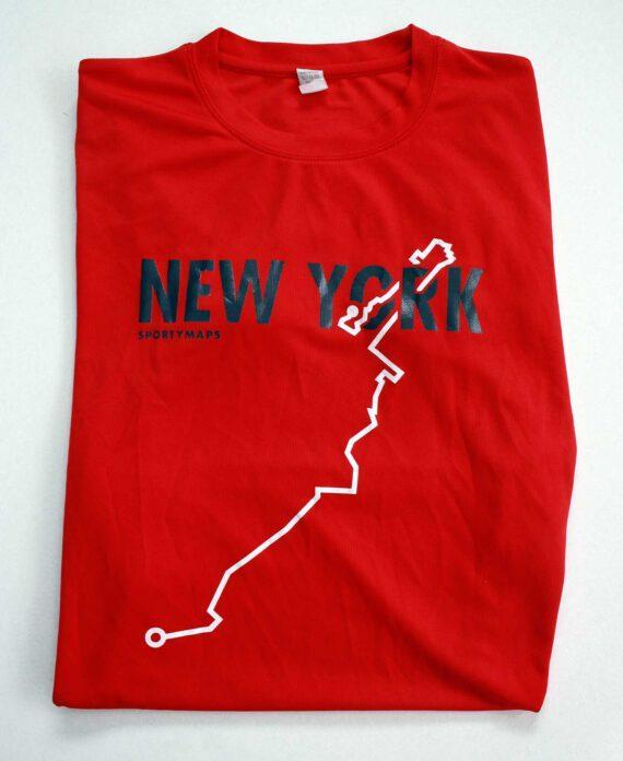 NYC marathon Sportymaps running shirt