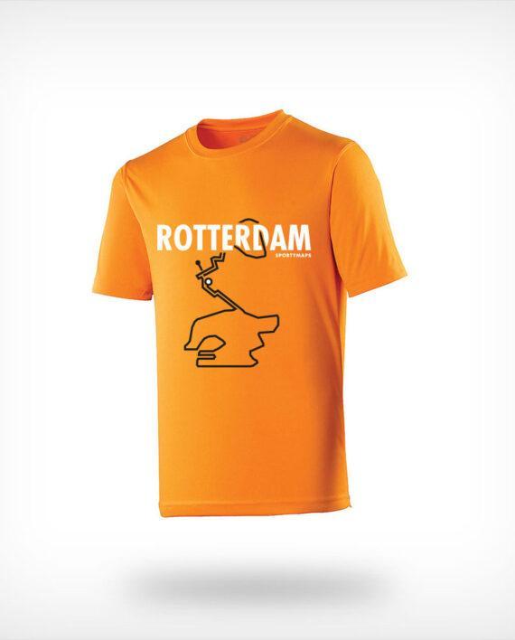Rotterdam running shirt man orange