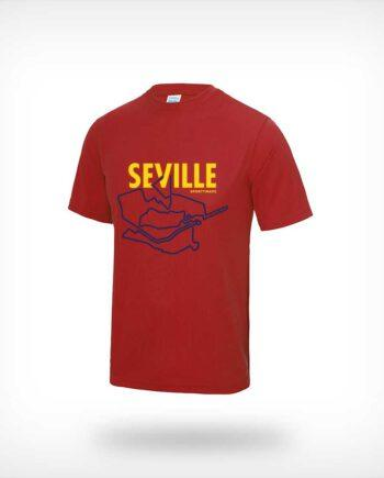 Seville Marathon running shirt red