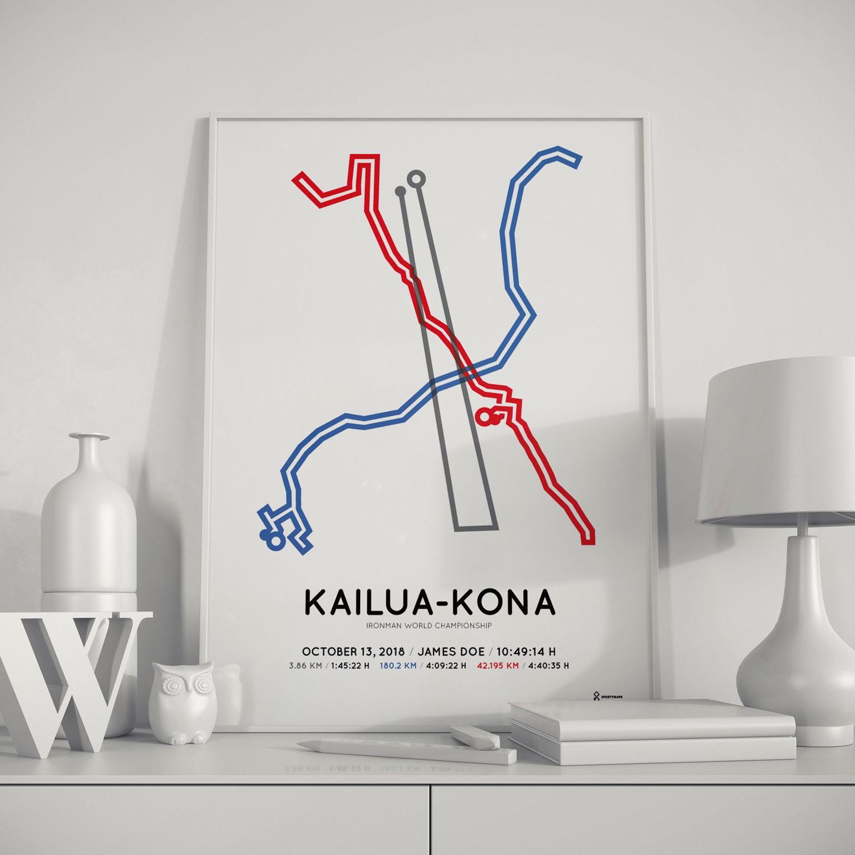 Sportymaps Ironman Kona poster