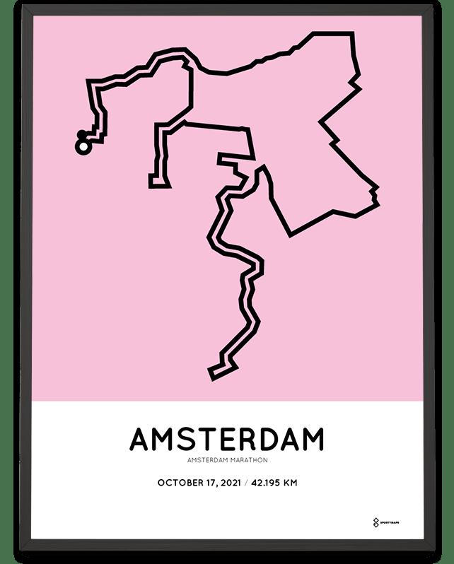 2021 Amsterdam marathon Sportmap