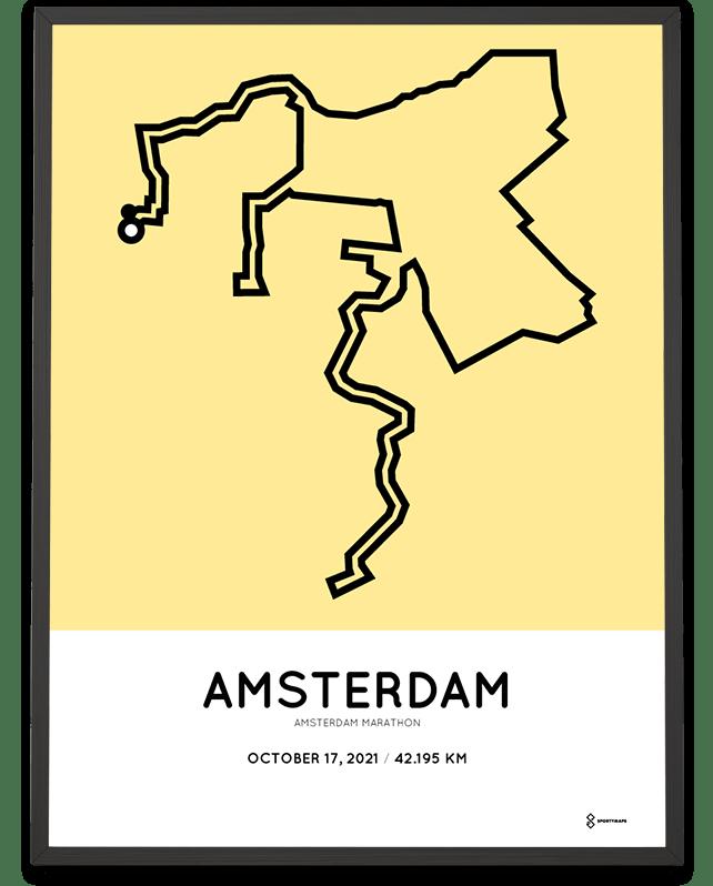 2021 Amsterdam marathoner map