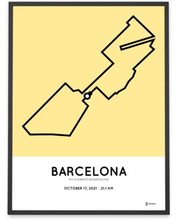 2021 mitja marato de Barcelona sportymaps poster