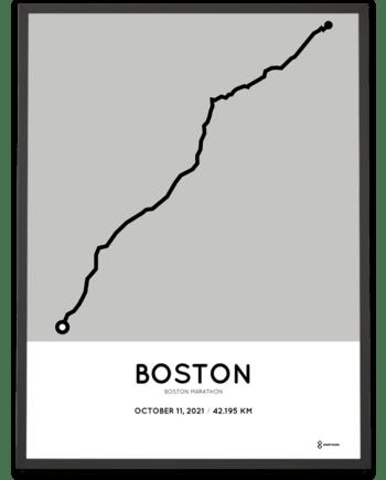 2021 Boston marathoner map Sportymaps