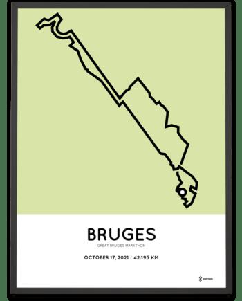 2021 Great Bruges marathon Sportymaps parcours poster