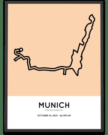 2021 München marathon strecke poster