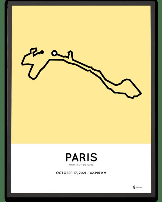 2021 Marathon de Paris Sportymaps parcours poster