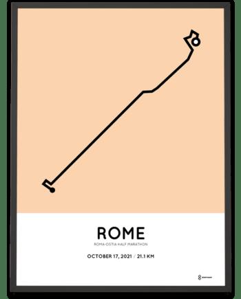 2021 Roma Ostia half marathon Sportymaps print