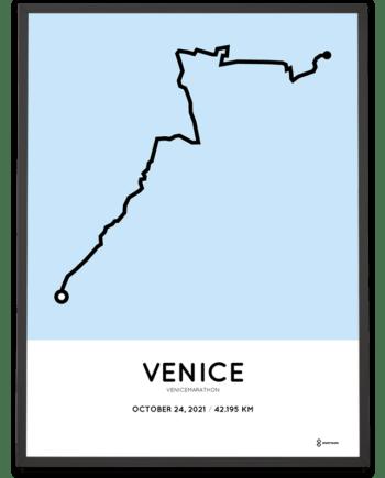 2021 Venicemarathon parcours poster