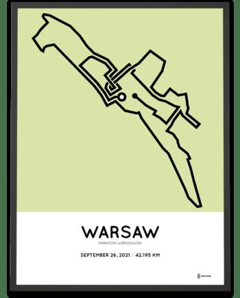 2021 Warsaw maraton course poster