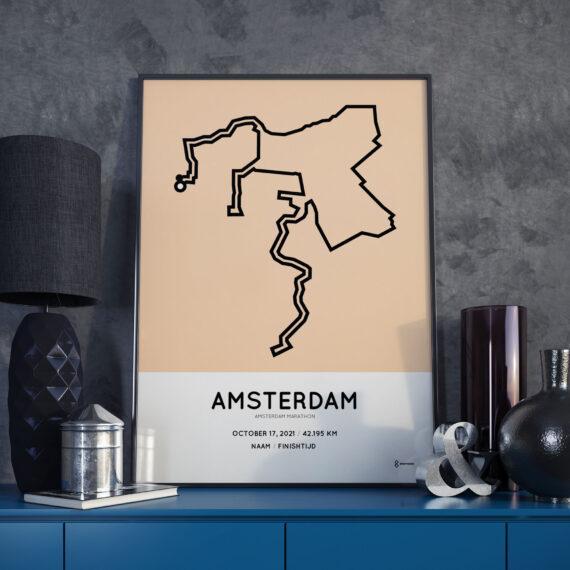 2021 Amsterdam Marathon routemap Sportymaps print