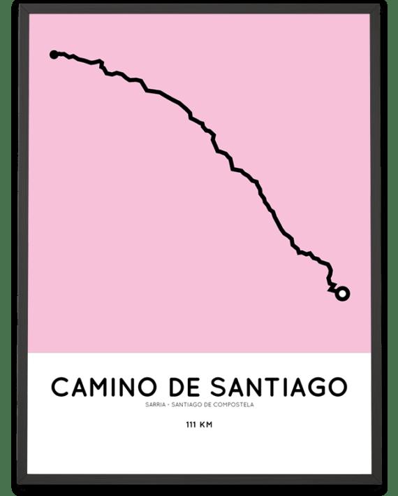 Camino de Santiago from Sarria Sportymaps route poster