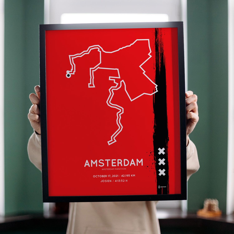 Amsterdam Marathon Special Edition Sportymap