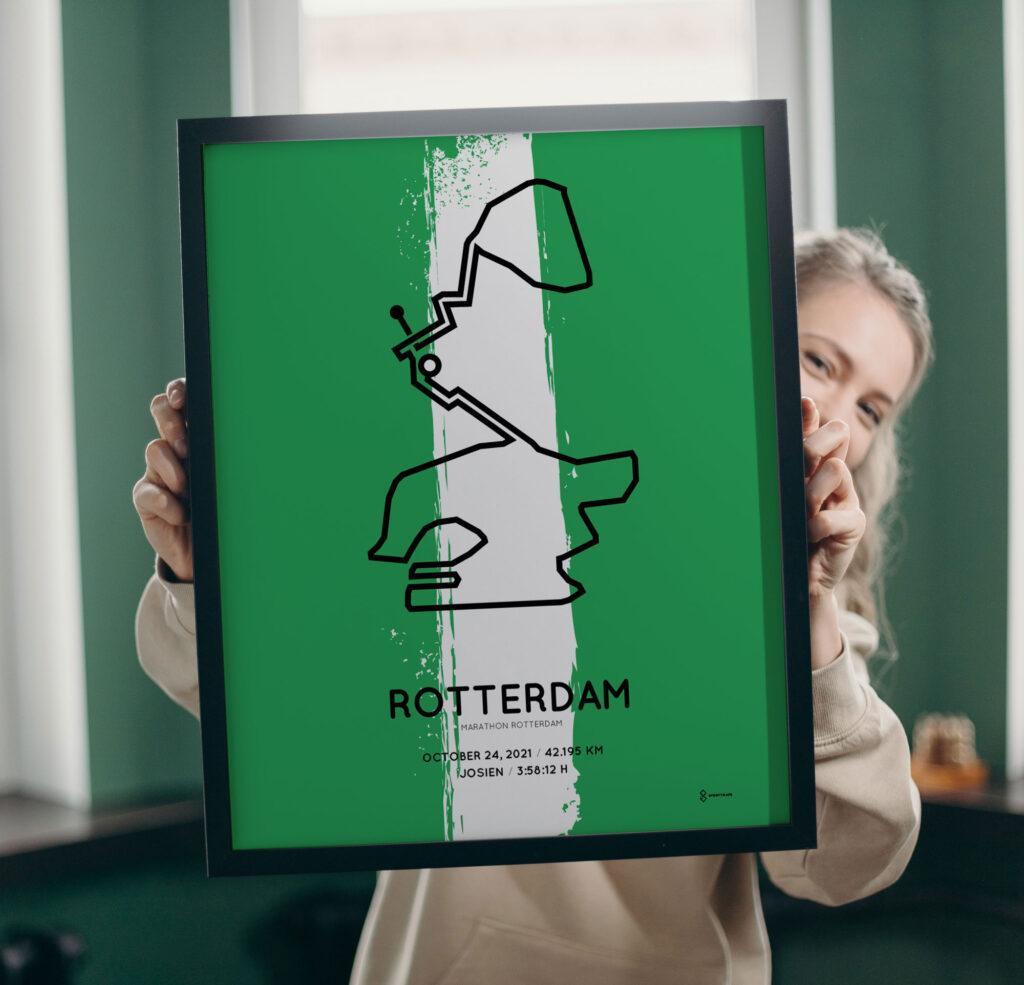 2021 Marathon Rotterdam parcours poster