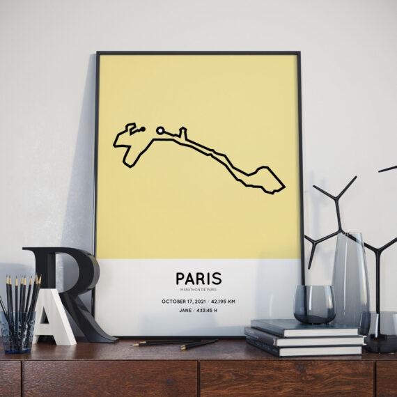 2021 Marathon de Paris parcours poster